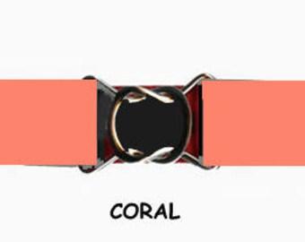 STRETCH-ELASTIC-BELT - Coral * 3-Sizes for Kids & Adults *  Adjustable on Both Sides