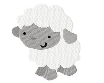 Embroidery Design Sheep 4'x4' - DIGITAL DOWNLOAD PRODUCT