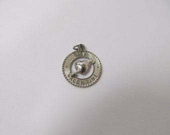 Vintage Sterling Silver My Valentine Charm  W #204