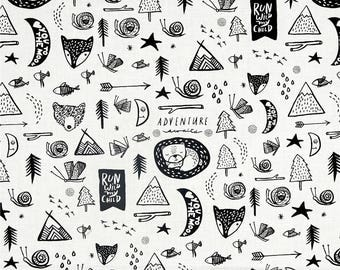 Woodland Fabric, Forest Dreaming, Adventure Awaits, Fabric by the Yard, by the Half Yard, Fat Quarter, Dear Stella, Fox, Mountain