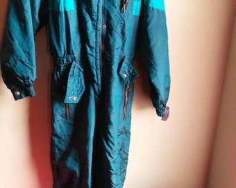 Teal Vintage Snow suit