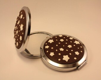 handmade purse mirror pan di stelle biscuit