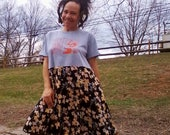 T SHIRT DRESS Upcycled Dress Recycled Dress Floral Dress Hippie Dress Beach Dress One of a Kind *Respect & Balance*