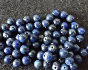 Vintage Lapis Lazuli 6mm Rounds