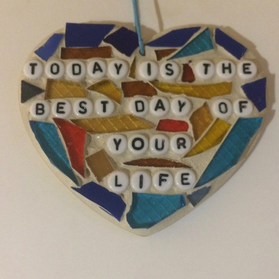 Stained Glass Inspirational Quotes Mosaic Ornaments Hangings Made in Hawaii Deesigns by Harris Free Gift Wrap