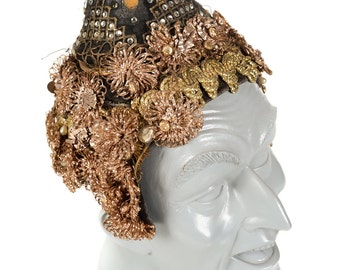 Siam Beaded Head Dress worn by actor Yul Brynner in the King and I  -c.1954
