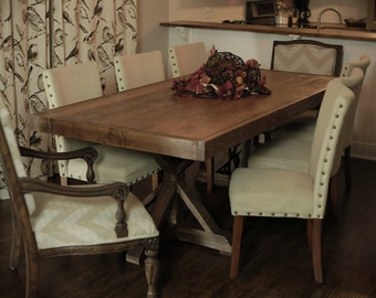 Amazing Custom Built Farmhouse Table  Dinning Room   Exterior   Local Only