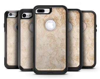 Faded Tan and Brown Ribbon Damask Pattern - OtterBox Case Skin-Kit for the iPhone, Galaxy & More