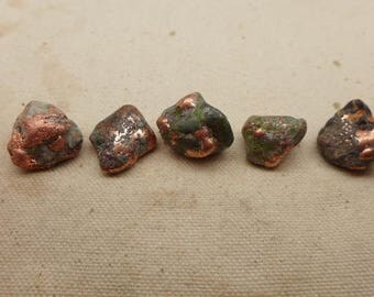 Natural Copper Nuggets - 5 #GT -  Ring Size Copper Nuggets - Michigan Copper Nuggets