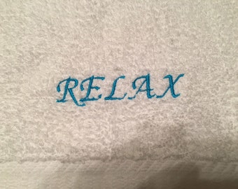 Personalize Your Words--Custom Embroidered Hand Towel