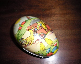 Wonderful Paper Mache Easter Egg Candy Container