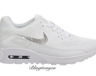 New Swarovski Nike Women's Air Max 90 Ultra 2.0 Shoes Custom Blinged with  Swarovski Crystal Rhinestones