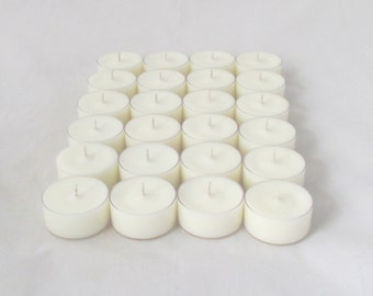 24 unscented tealight candles, 2 dozen tealights, white tealights, unscented tea lights, unscented tea candles, unscented candle
