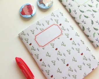 Little Ladybug Journal - Pocket size Notebook  - Pattern - Blank Pages
