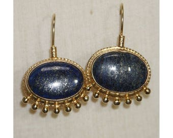 Lapis Lazuli and gold earrings