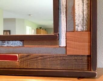 Rustic Mirror Frame, Rustic Wood Mirror Frame , Rustic Home Decor, Rustic Wall Decor, Rustic Home Decor, Reclaimed Wood Furniture
