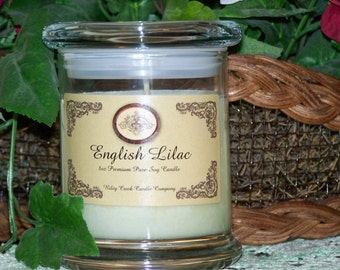 English Lilac Premium 100% Pure Soy Candle 8oz