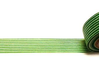 Green Striped Washi Tape, Christmas Washi Tape, Washi Tape, Planner Washi Tape, Scrapbook Supplies,