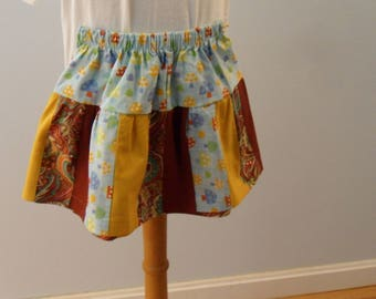 One of a kind patchwork  girl skirt size 3
