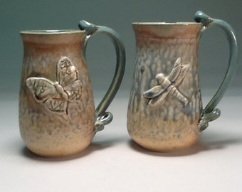 Dragonfly or butterfly tall mug