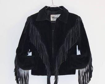 SALE*****Flow with me, fringe suede jacket