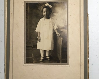 Vintage photographs cabinet photo sweet African-American little girl