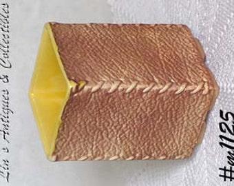 "Vintage Shawnee Pottery Leather Look 4 7/8"" Vase (Inventory #M1125)"