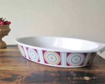 Bavaria Vintage Ceramic Bowl Flammen Feuerfest Casserole Dish Germany @205