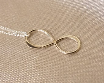 Infinity Necklace - Dainty Sterling Silver Infinity Necklace