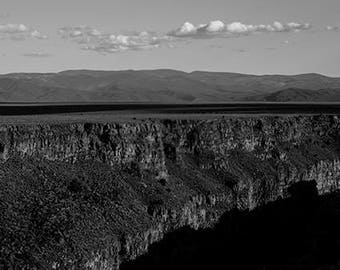 Taos  Gorge and Clouds