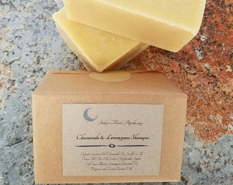 Chamomile & Lemongrass Shampoo Bar, Vegan Shampoo, Solid Shampoo Bar, Eco Friendly Shampoo, Natural Shampoo, Sulfate Free, Dreadlock Shampoo