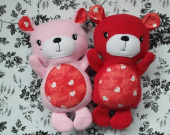 Valentine day, teddy bears, Personalize Animal,for children