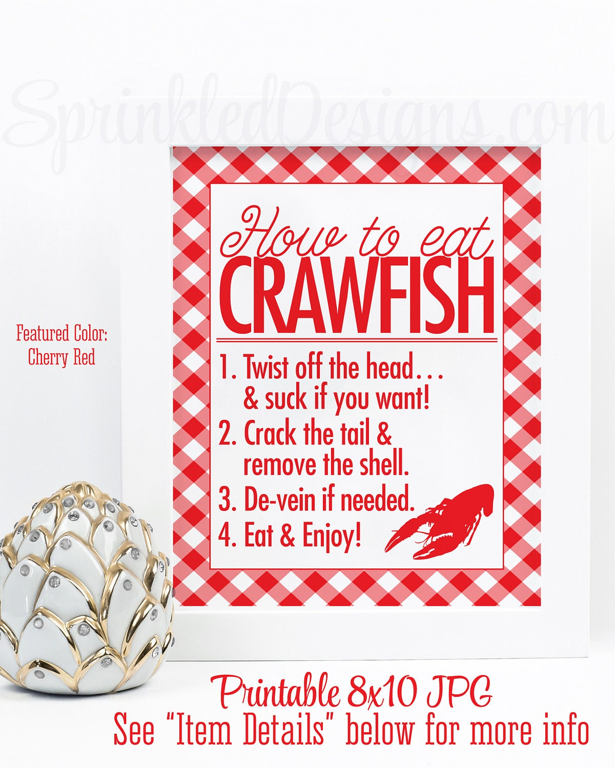 Crawfish Boil Decorations, How To Eat Crawfish Sign, Crawfish Decor,  Graduation Crawfish Boil