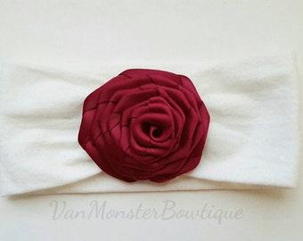 Royal Red Rose Super Soft Stretchy Headband