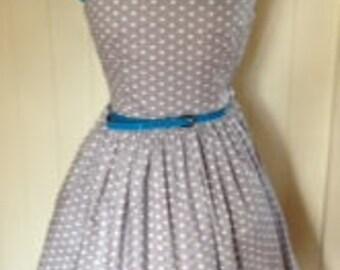 Vintage 50's style One shoulder dress.