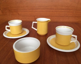 Vintage Mikasa Light N Lively Set in Yellow
