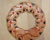 Holly Wall Wreath ~ Wood ...