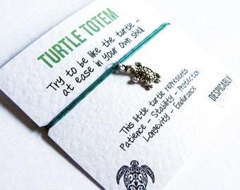 Turtle Friendship Bracelet - Wish bracelet - Turtle Totem - Turtle Charm - Best friend bracelet  - Turtle gift - Wish charm