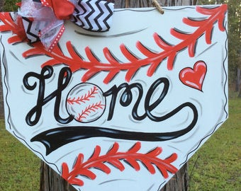 Baseball, Home plate, NBL, sport, Ball game, Door Hanger