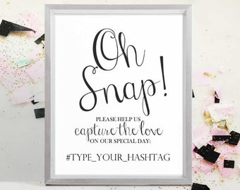 2017 SALE: Wedding Photo Sign Instant Download, Wedding Instagram Sign, Hashtag Sign, Printable Wedding Sign, 8x10, 5x7