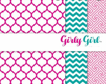 """Patterned Craft Vinyl - Girly Girl 12x12"""" Individual Sheet or Multi-Pack"""