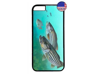 Bass Fish Fishing Case Cover for iPhone 4 4s 5 5s  5C 6 6s 6 Plus 7 7 Plus iPod Touch 4 5 6 case Cover