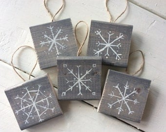 Wooden Snowflake Ornaments Free Shipping