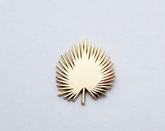 Gold Fan Palm | Lapel Pin