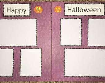12x12 premade scrapbook page~ Happy Halloween