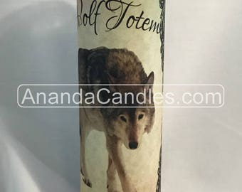 Hoodoo Voodoo Wolf Totem Fixed 7 Day Candle Witchcraft
