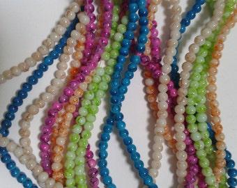 glass beads, 4mm glass beads, beads, round beads, glass round beads, 4mm round beads, uk seller, matildas crafts, bead supply, jewellery