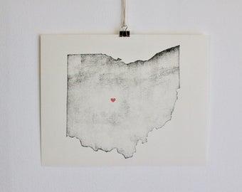 Ohio Wall Art ohio home | etsy