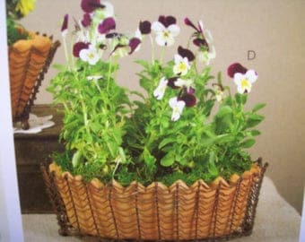 Oval Wire Basket with Terra Cotta Pot
