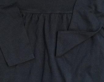 Navy blue rainbow applique monogrammed dress